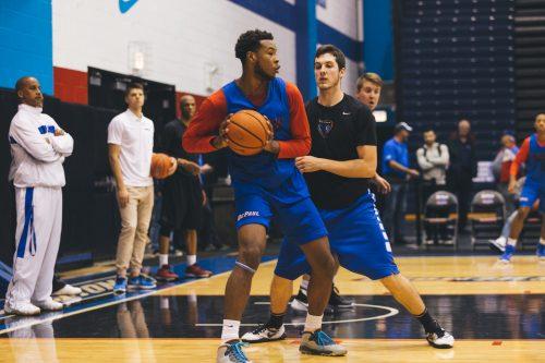 Junior college transfer Tre'Darius McCallum is one of six newcomers for men's basketball. (Josh Leff/The DePaulia)