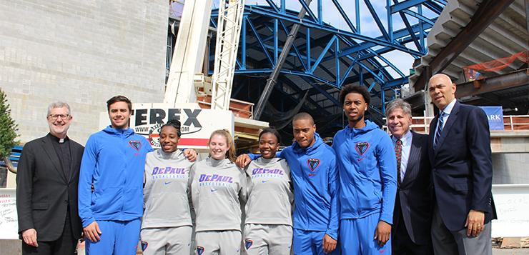 Final beam put in place at new DePaul arena