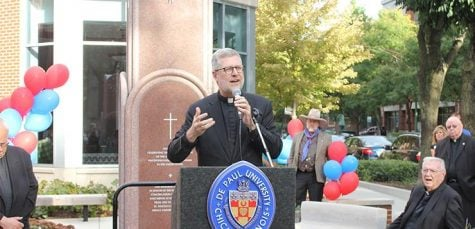 DePaul dedicates memorial outside Arts & Letters