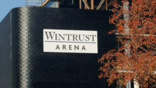 The name on the southwest Facade of the arena. (Ben Gartland/The DePaulia)