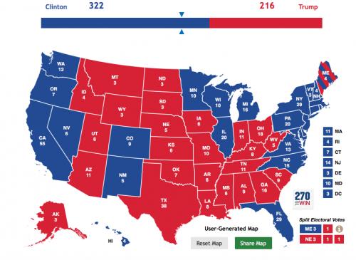 Sports Editor Ben Garland's Electoral College map.