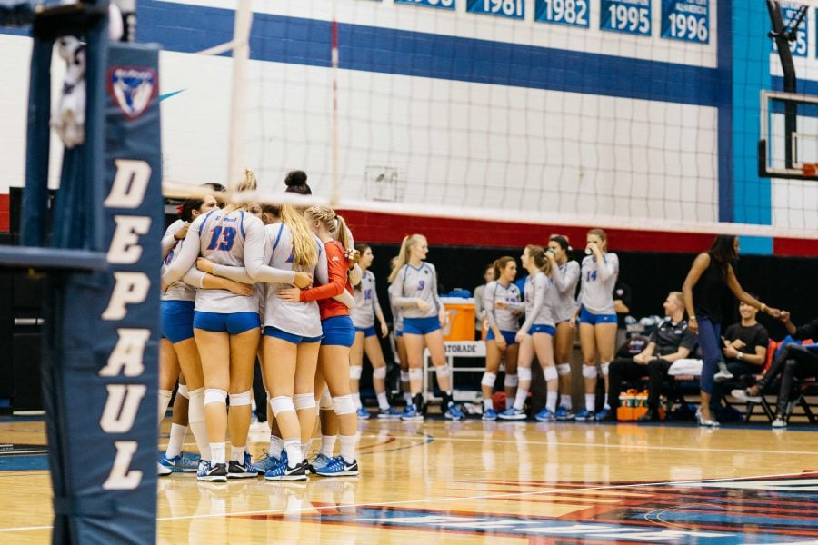 DePaul cans women's volleyball coaching staff