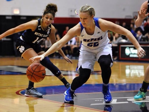 No. 22 DePaul women's basketball rolls Tennesee Martin 100-68