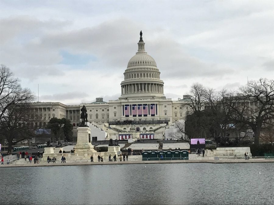 The U.S. Capitol Building a day before inauguration festivities commence. (Brenden Moore/The DePaulia)
