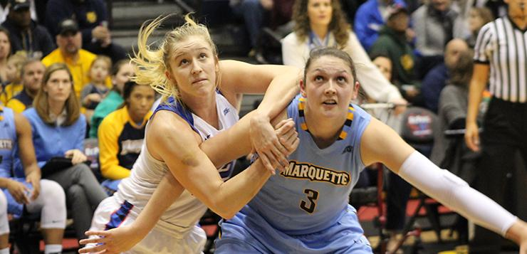 Women fall 102-101 to Marquette
