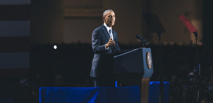 Obama says goodbye in Chicago