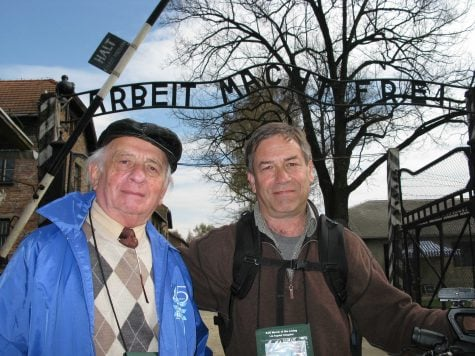 Jack (left) is a Holocaust survivor who will visit DePaul April 24 with his son and creator of