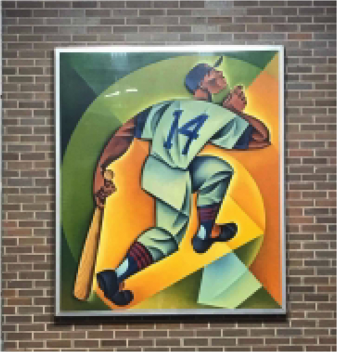 A painting of Ernie Banks is at the Addison Red line stop.
