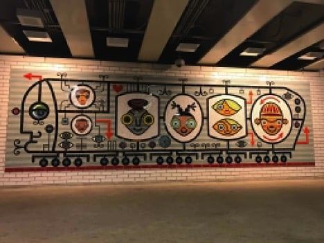 Mural art in the city's CTA stations captures culture and history