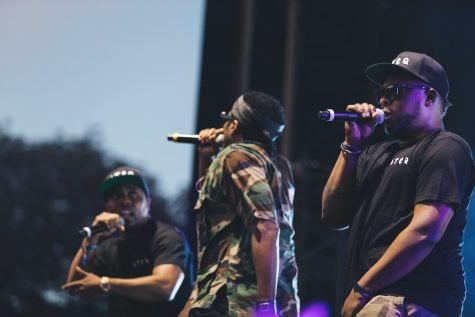 <center><i>Saturday's headliner, A Tribe Called Quest, formed in 1985 and has been an American hip-hop favorite ever since. (Josh Leff / The DePaulia)</center></i>