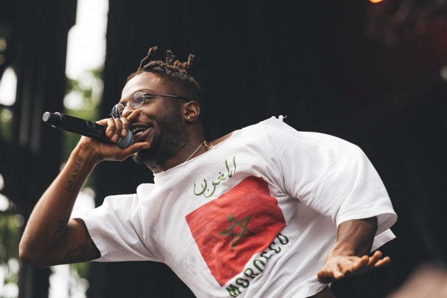 Tennessee native Isaiah Rashad began rapping professionally when he was in the tenth grade and performed at Pitchfork's final day on Sunday.