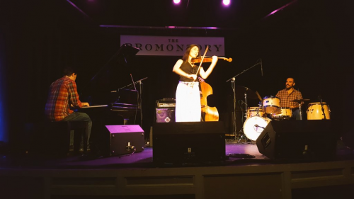 Maureen Choi (center) performed with her quartet on June 27 at The Promontory. (Maureen Choi/@maureenchoi)