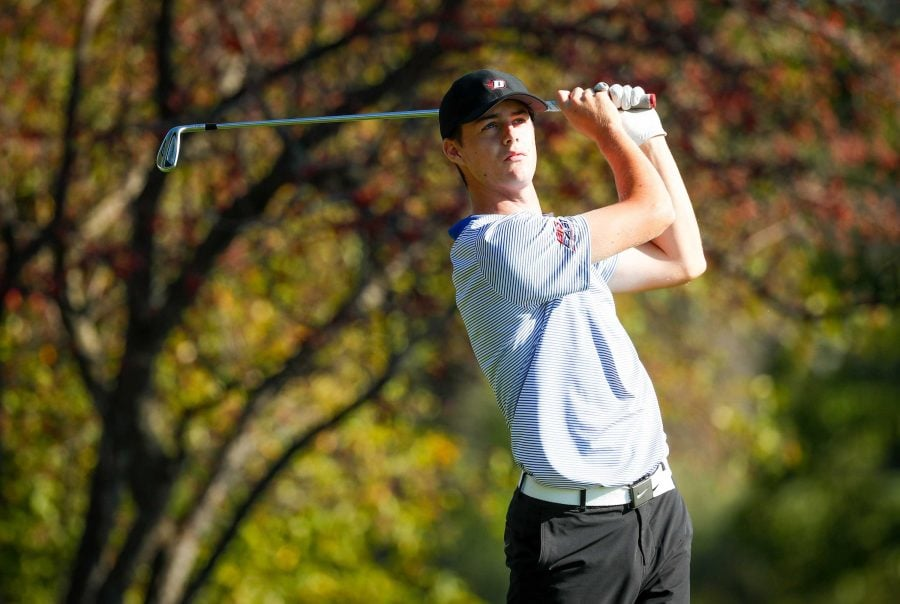 Freshman Joe McCarthy finished T-7 in his first tournament as a Blue Demon.  Photo: DePaul Athletics