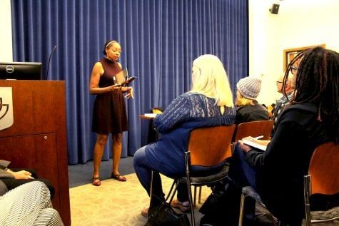 Poet Allison Joseph shares tips for political prose at DePaul