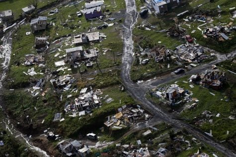 Debris scatters a destroyed community in the aftermath of Hurricane Maria in Toa Alta, Puerto Rico. (Gerald Herbert, AP)