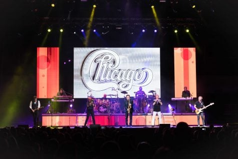 Chicago performing at the new Wintrust Arena on Nov. 9. Lee Loughnane, James Pankow and Walter Parazaider of Chicago formed in the 1960's on the Lincoln Park  (Konrad Markowski/The DePaulia)