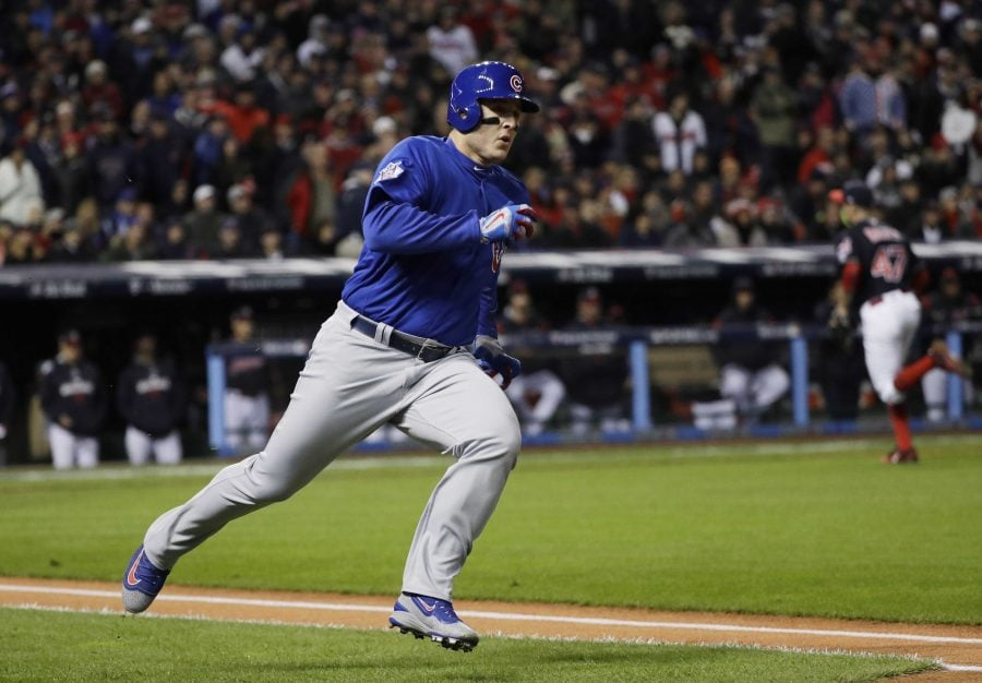Anthony Rizzo's and his charity, The Rizzo Foundation, was honored with the Roberto Clemente Award.  (David J. Phillip/AP)