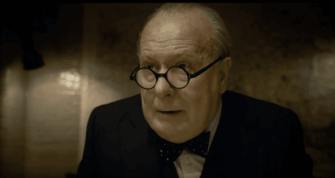 Gary Oldman surrenders himself to Winston Churchill