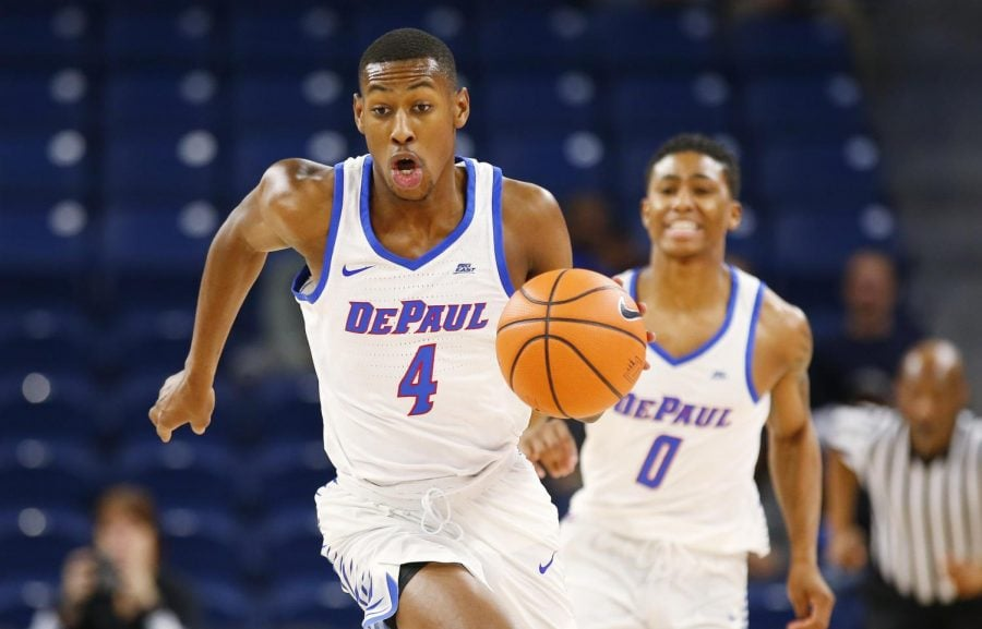 Brandon Cyrus averaged 7.2 points this past season in his second year with the program.  (Photo courtesy of DePaul Athletics)