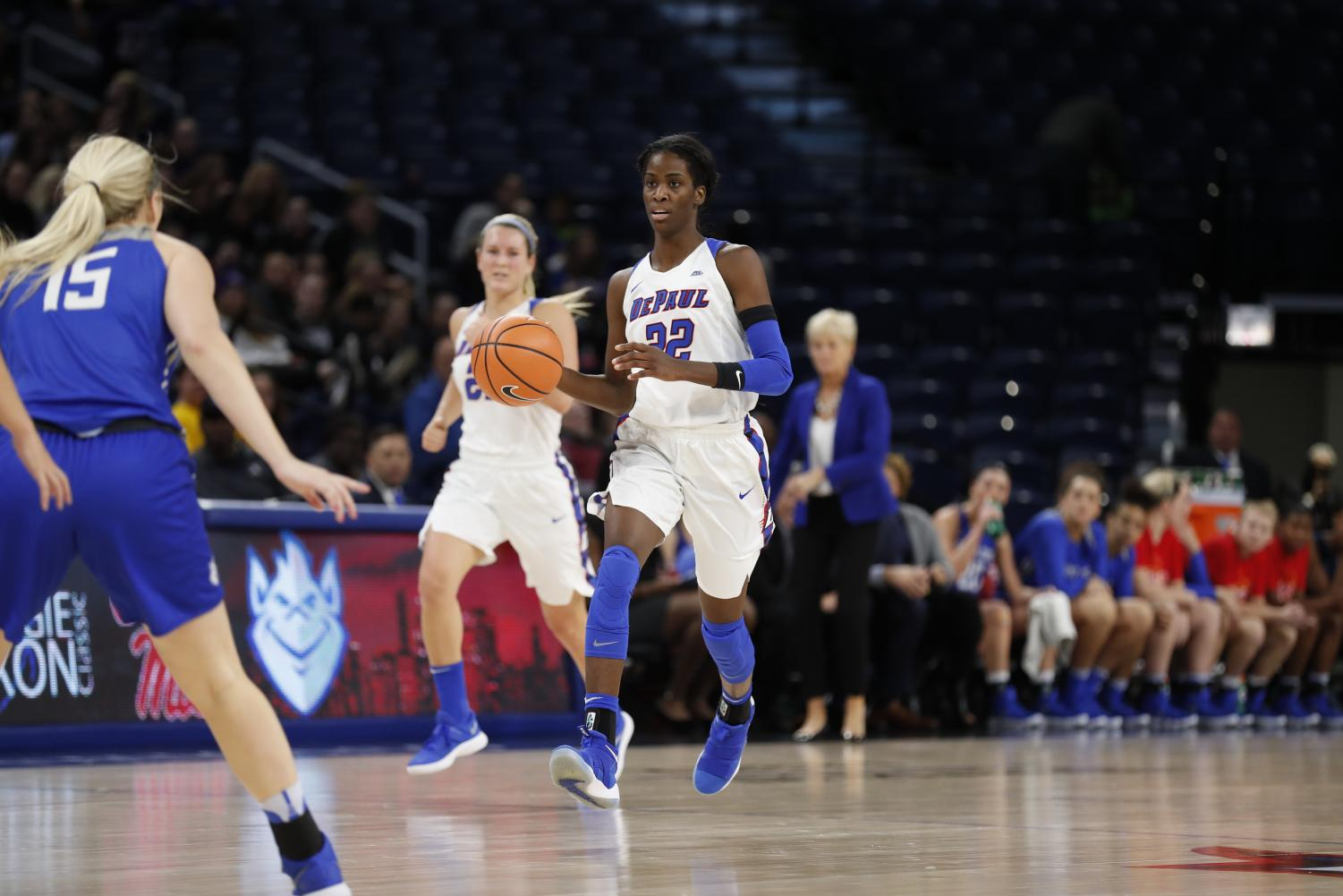 Sophomore forward Chante Stonewall finished with 16 points and six rebounds in a key DePaul road win (Photo Courtesy of DePaul Athletics)