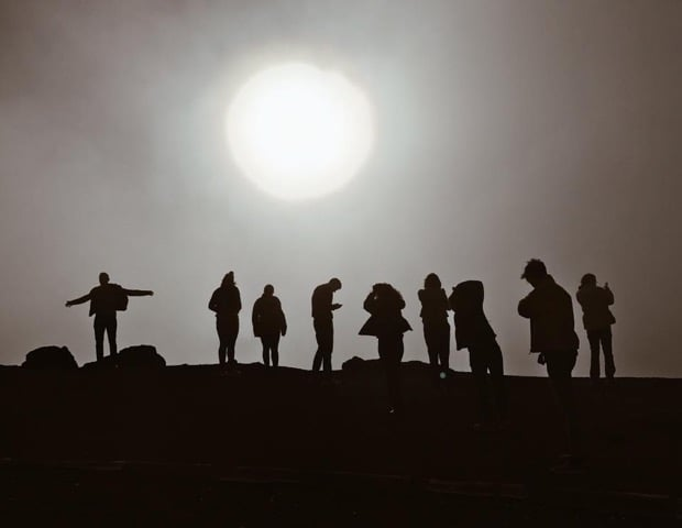 The group posed for a picture atop Mount Bental in the Golan Heights near Israel's northeastern border with Syria. (Photo courtesy of Olivia Adams)