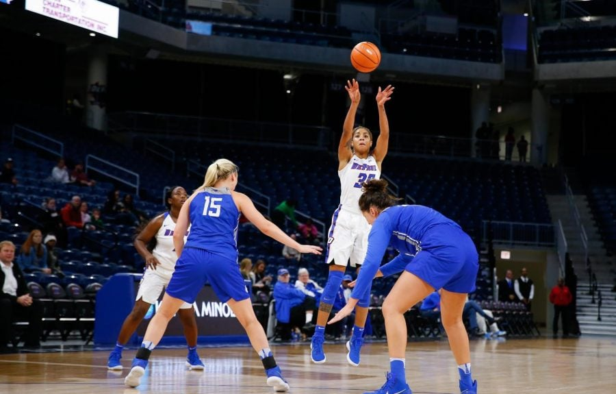 Junior+forward+Mart%27e+Grays+collected+her+third+career+double-double+with+21+points+and+10+rebounds.++%0A%28Photo+Courtesy+of+DePaul+Athletics%29+