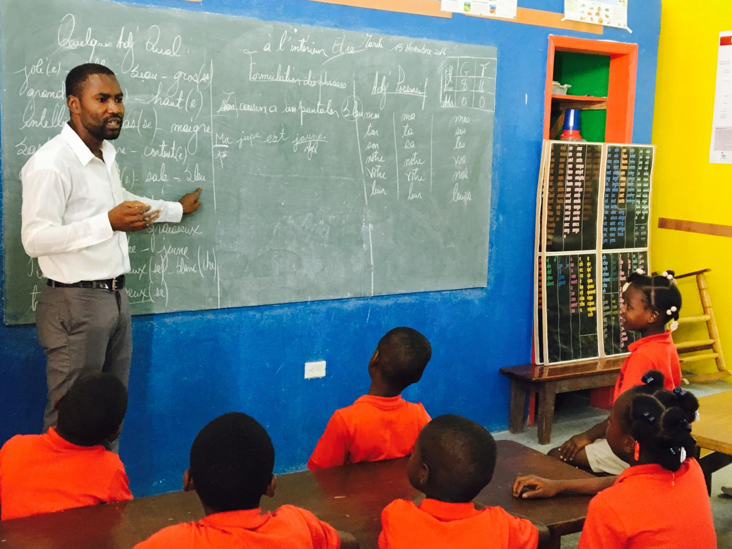 The School of Choice in Saint-Domingue serves children born into poverty through the Vincentian family's Haiti Initiative. DePaul professor Laura Hartman founded the the school in 2010. (Photo courtesy of The School of Choice)