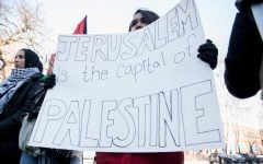 Students for Justice in Palestine protest US policies, Israeli detentions