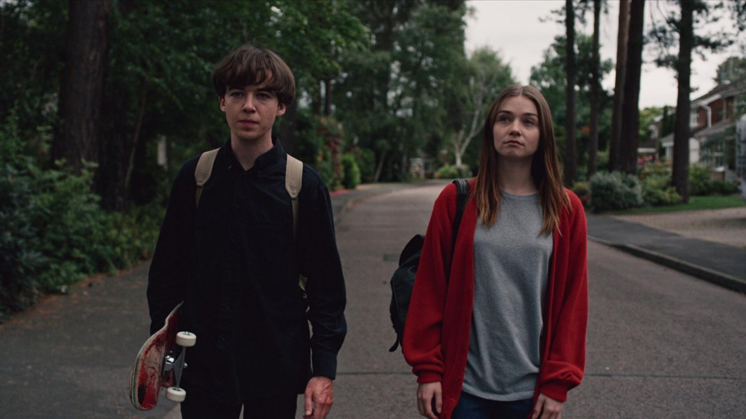 Alex Lawther and Jessica Barden in