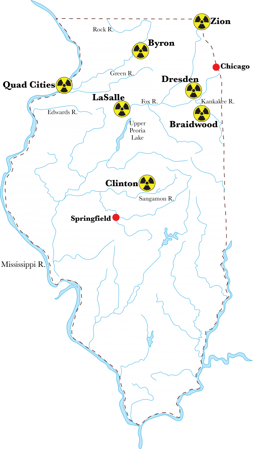 The Dresden and Braidwood reactors are two that the NRC noted as susceptible to flooding. (Victoria Williamson | The DePaulia)
