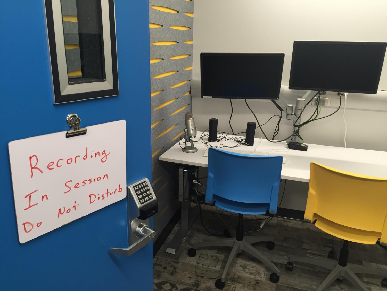 The recording studios in the John T. Richardson Library are a part of the University's renovation efforts.  (Rachel Fernandez   The DePaulia)