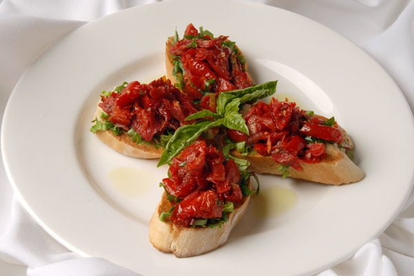 Roasted tomato bruschetta, an appetizer included in the Restaurant Week deal. (Courtesy  Saporitrattoria.net)