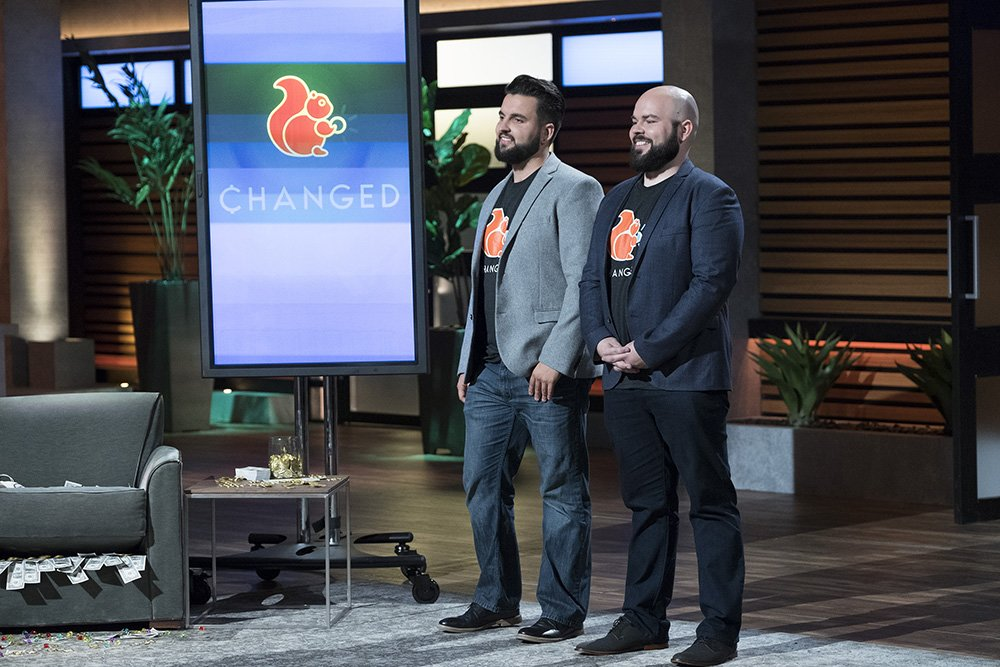 """Brothers Dan Stelmach and Nick Skrzyniarzc pitched their idea for ChangEd on an episode of """"Shark Tank."""" (Photo courtesy of ABC)"""