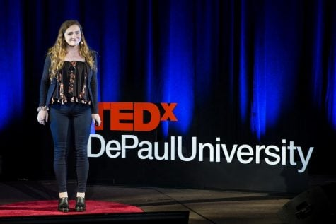 Rachel Pride, a student who spoke at DePaul's TEDx event last year, will be hosting this year.  Photo courtesy of DePaul University/ Jeff Carrion