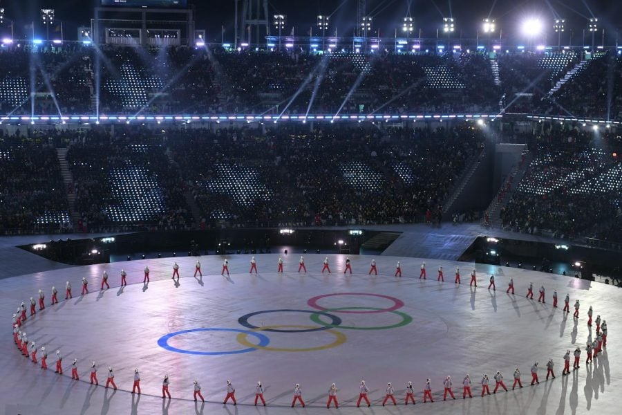 Performers take part in the opening ceremony of the 2018 Winter Olympics on Friday, Feb. 9 in Pyeongchang, South Korea.  Christof Stache | Pool photo via AP
