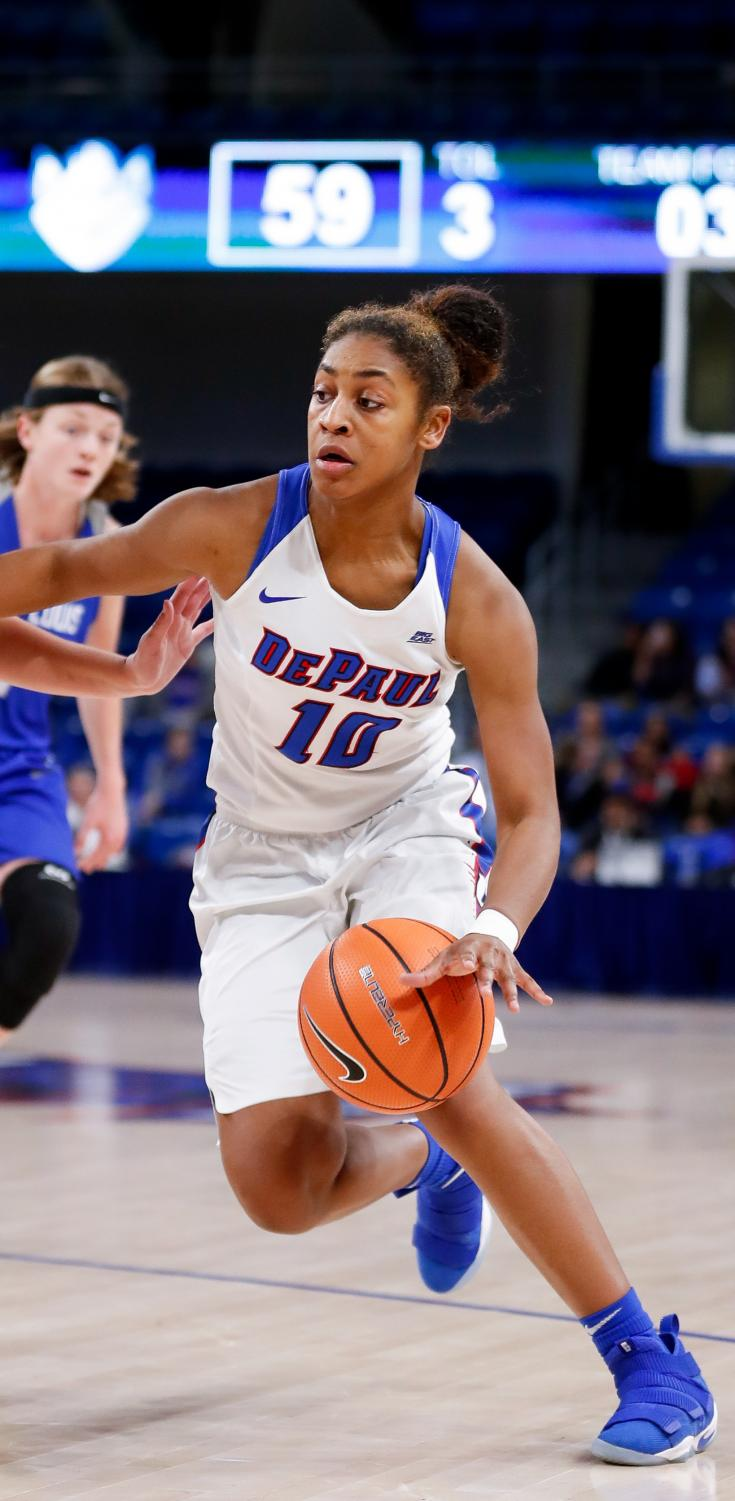 Senior guard Amarah Coleman notched 18 points Friday against Georgetown. (Photo Courtesy of DePaul Athletics)