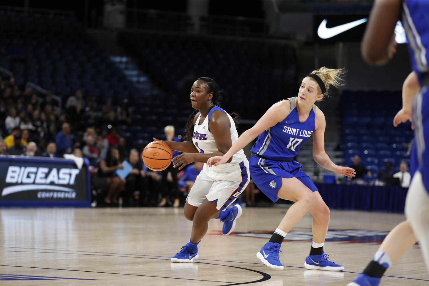 DePaul faces off against the winner of Xavier and Seton Hall in the quarterfinals of the Big East Tournament.  (Photo courtesy of DePaul Athletics)