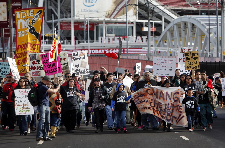 Protestors gather in Santa Clara, Calif., on Nov. 23, 2014 protesting the use of
