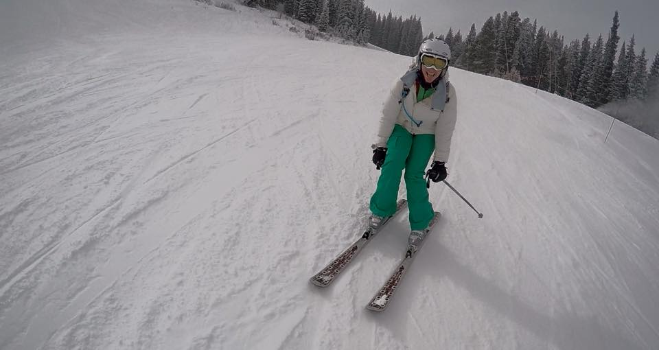 DePaul Snow Club cheers on hometown skiers looking for boost from games.  (Photo of Anna Wisniiewski)