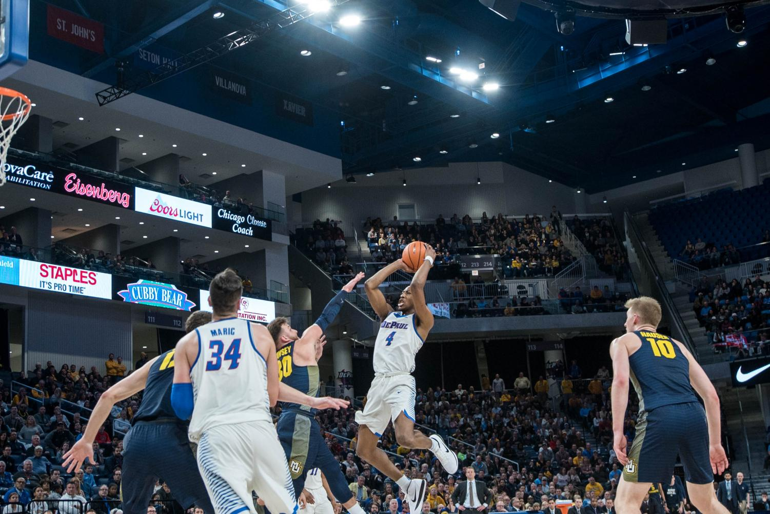 DePaul's previous two home losses came by a combined two points prior to beating Marquette on Saturday for DePaul's  annual Blue Demon Week game.   (Mason Rippel | The DePaulia)