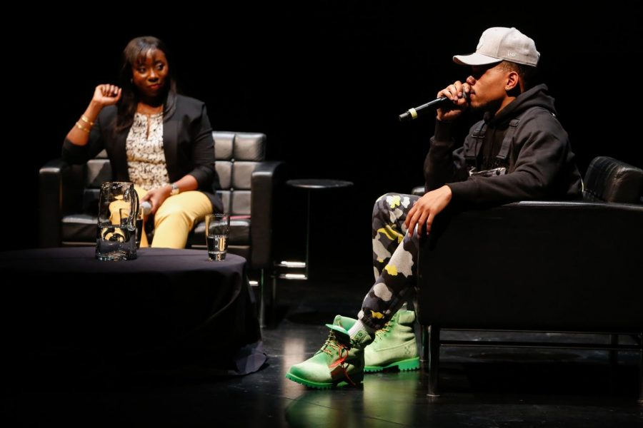 Chance the Rapper spent a couple of hours with fans, covering a variety of topics to include Chicago Public Schools and Mayor Rahm Emanuel. Chance said he will live in Chicago until the day he dies. (Photo courtesy of Museum of Contemporary Art)