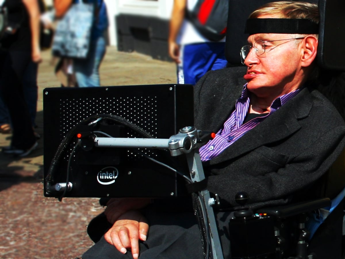 Stephen Hawking at Cambridge.
