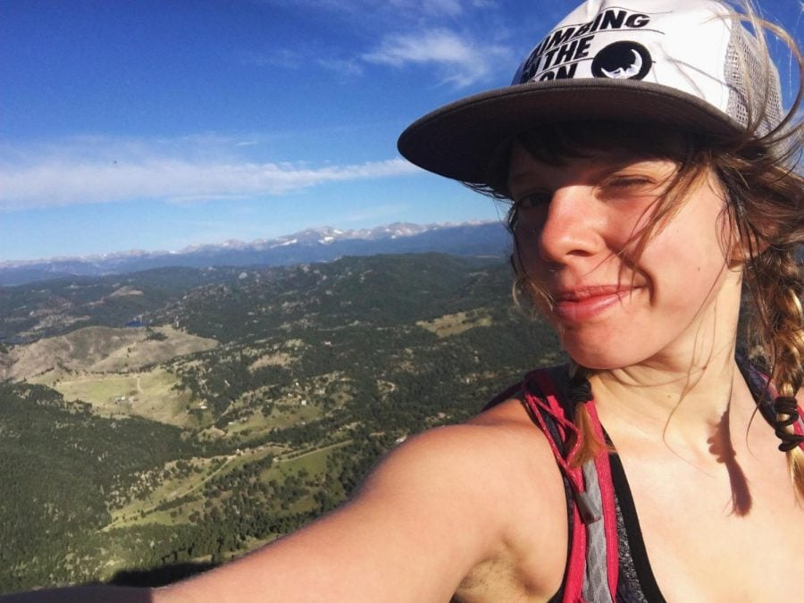 Savannah Buik used her rock climbing blog to inspire people recovering from eating disoders. Buik's blog touched the lives of many others who have expressed their sadness over her death. (Photo courtesy of Facebook)