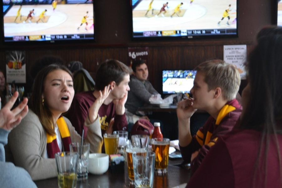 Loyola fans were disappointed after losing a tough matchup to the Michigan Wolverines.(Benjamin Conboy | The DePaulia)