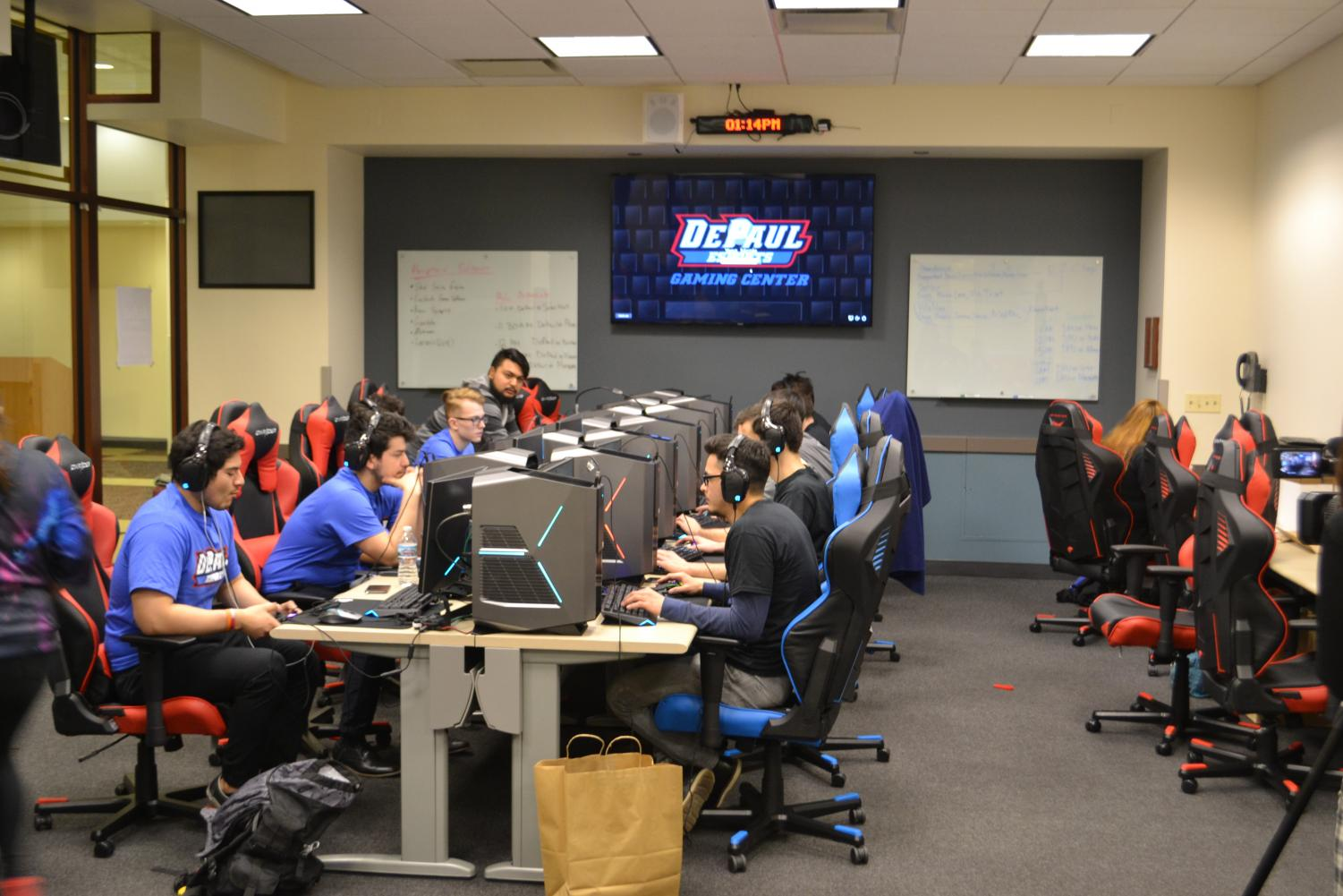 DePaul will unveil its new gaming center on Monday at 2 p.m to the DePaul community. (Andrew Hattersley | The DePaulia)