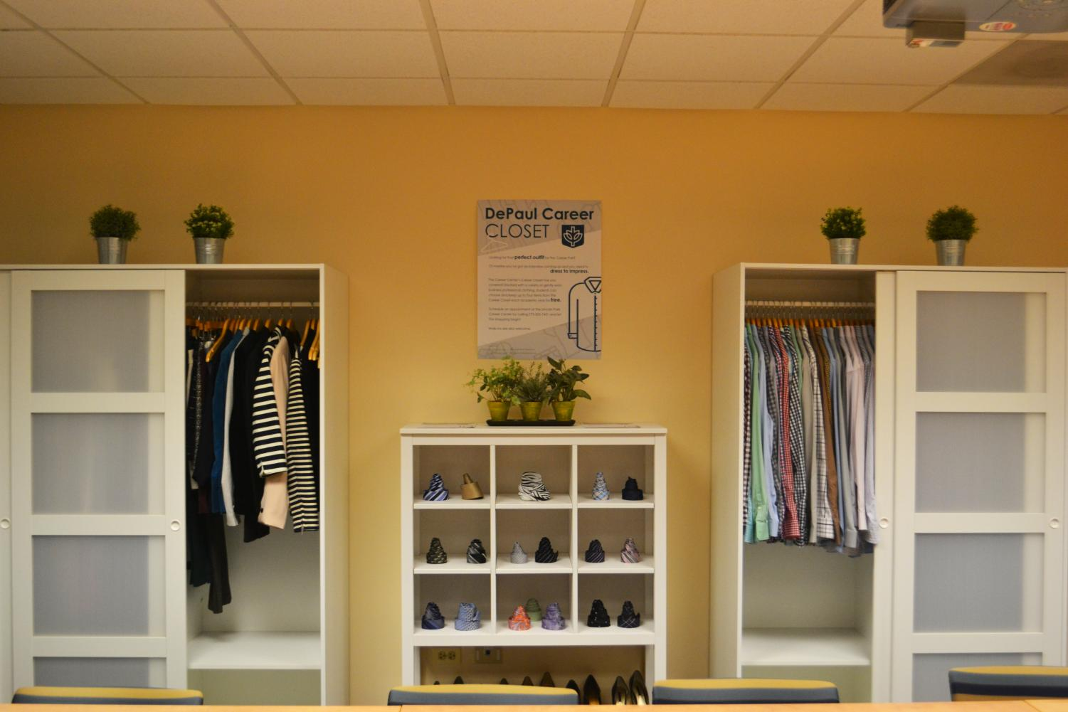 The Career Center opened a new career closet features both women's and mens professional clothing and accessories donated by students and others. (Timothy Duke | The Depaulia)