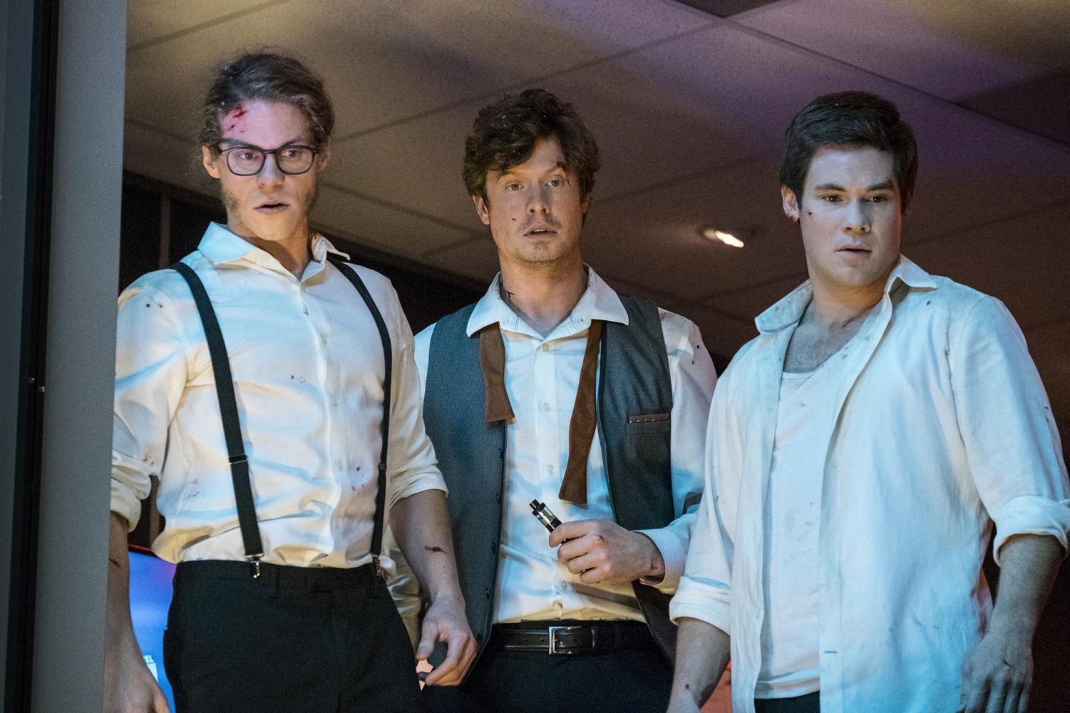 Comedians and friends Blake Anderson, Anders Holm and Adam Devine star in the new Netflix action-comedy