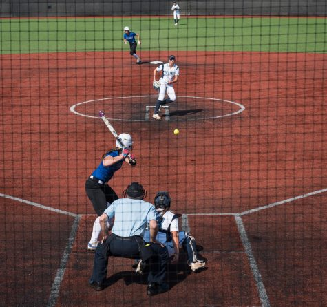 Blue Demons slide by UIC Flames 3-1