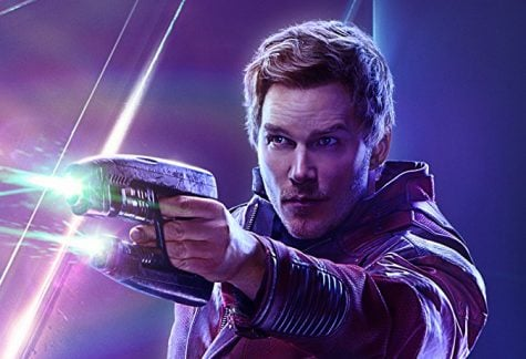 In the film, Chris Pratt reprises his role as Star-Lord from