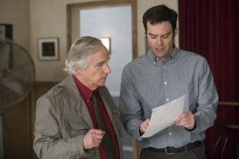 Henry Winkler and series co-creator and star Bill Hader in a scene for HBO's